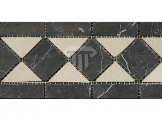 Wider Creme/Black Marble Border (Tumbled)