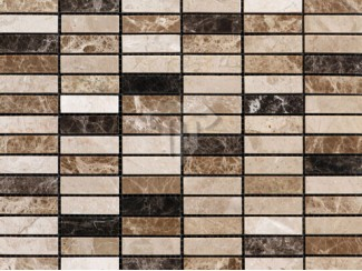 Emperador Mix Brick Marble Mosaic (Polished)