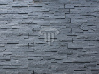 Black slate mosaic cladding