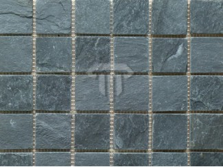 Imperial Black Slate Mosaic ( Riven)