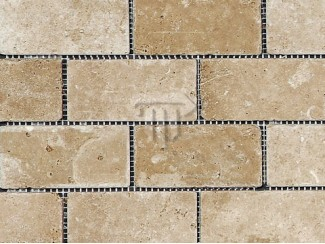 Travertino mozaika Dark Brown Brick  (sendinta)