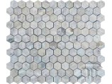 Silver Hexagon Travertino Mozaika (matinė)