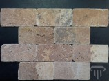 Travertinas Dark Brown Brick  (sendintas)